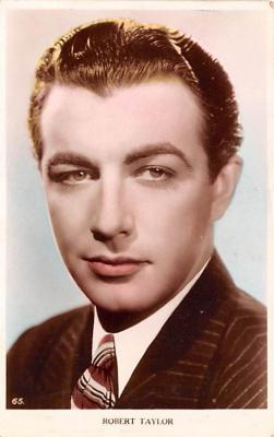 act020530 - Robert Taylor Movie Star Actor Actress Film Star Postcard, Old Vintage Antique Post Card