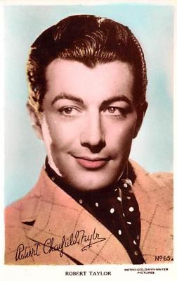act020538 - Robert Taylor Movie Star Actor Actress Film Star Postcard, Old Vintage Antique Post Card