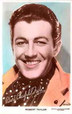 act020545 - Robert Taylor Movie Star Actor Actress Film Star Postcard, Old Vintage Antique Post Card