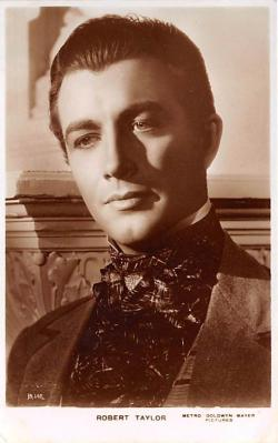 act020547 - Robert Taylor Movie Star Actor Actress Film Star Postcard, Old Vintage Antique Post Card