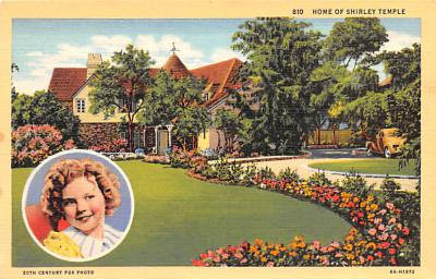 act020556 - Home of Shirley Temple Movie Star Actor Actress Film Star Postcard, Old Vintage Antique Post Card