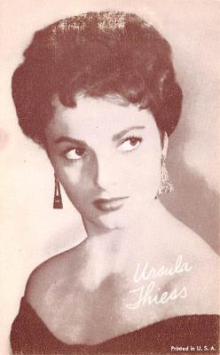 act020591 - Ursula Thiess Movie Star Actor Actress Film Star Postcard, Old Vintage Antique Post Card