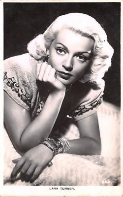 act020592 - Lana Turner Movie Star Actor Actress Film Star Postcard, Old Vintage Antique Post Card