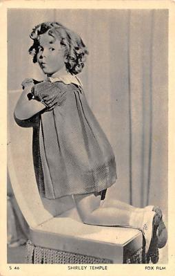 act020636 - Fox Film, Shirley Temple Movie Star Actor Actress Film Star Postcard, Old Vintage Antique Post Card