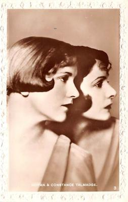 act020640 - Norma & Constance Talmadge Movie Star Actor Actress Film Star Postcard, Old Vintage Antique Post Card