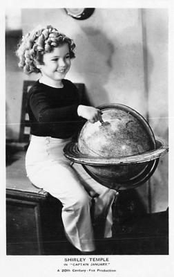 act020899 - Child Movie Star Shirley Temple Post Card Old Vintage Antique