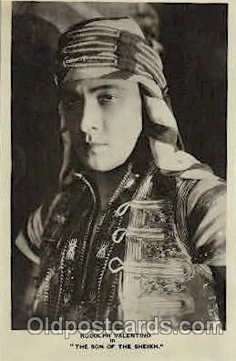 act022008 - Rudolph Valentino Actor, Actress, Movie Star, Postcard Post Card