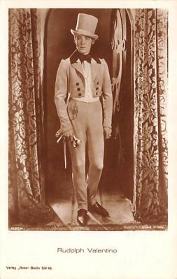 act022032 - Rudolph Valentino Movie Star Actor Actress Film Star Postcard, Old Vintage Antique Post Card