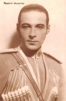 act022034 - Rudolph Valentino Movie Star Actor Actress Film Star Postcard, Old Vintage Antique Post Card