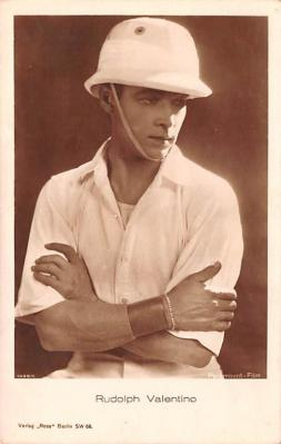 act022075 - Rudolph Valentino Movie Star Actor Actress Film Star Postcard, Old Vintage Antique Post Card