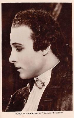 act022077 - Rudolph Valentino in Monsieur Beaucaire Movie Star Actor Actress Film Star Postcard, Old Vintage Antique Post Card