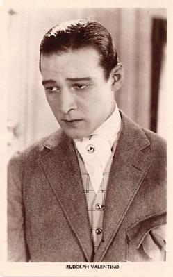 act022083 - Series 88, Rudolph Valentino Movie Star Actor Actress Film Star Postcard, Old Vintage Antique Post Card