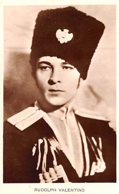 act022092 - Rudolph Valentino Movie Star Actor Actress Film Star Postcard, Old Vintage Antique Post Card