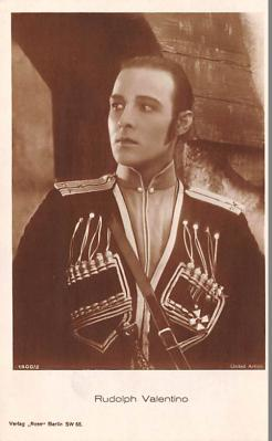act022094 - Rudolph Valentino Movie Star Actor Actress Film Star Postcard, Old Vintage Antique Post Card