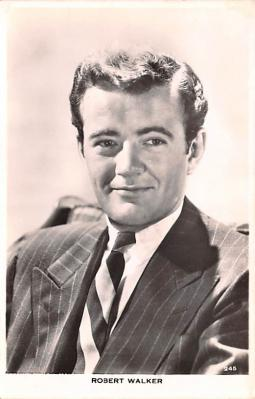 act023173 - Robert Walker Movie Star Actor Actress Film Star Postcard, Old Vintage Antique Post Card