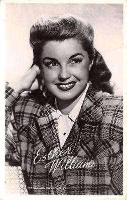 act023185 - Esther Williams Movie Star Actor Actress Film Star Postcard, Old Vintage Antique Post Card