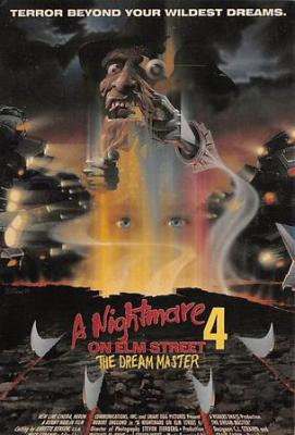 act500083 - A Nightmare on Elm Street 4 Movie Poster Postcard