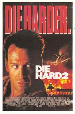 act500103 - Die Harder, Die Hard 2 Movie Poster Postcard