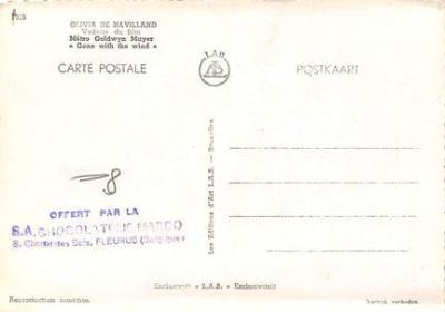 act500229 - Olivia de Havilland Movie Poster Postcard  back