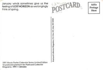 act500399 - Lost Horizon Movie Poster Postcard  back