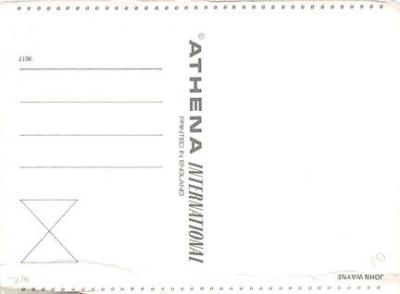 act500463 - John Wayne Movie Poster Postcard  back