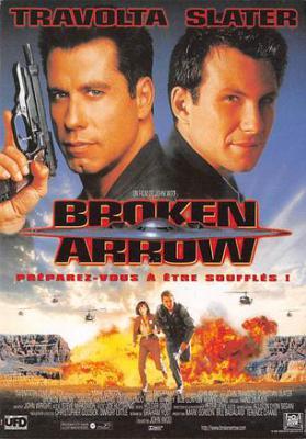 act500479 - Broken Arrow, John Travolta Movie Poster Postcard