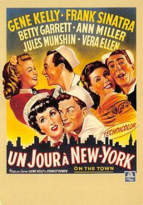 act500519 - Un Jour a New York, Gene Kelly, Franks Sinatra Movie Poster Postcard