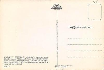 act500535 - Marilyn Monroe Movie Poster Postcard  back