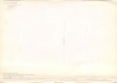 act500697 - Clark Gable Movie Poster Postcard  back