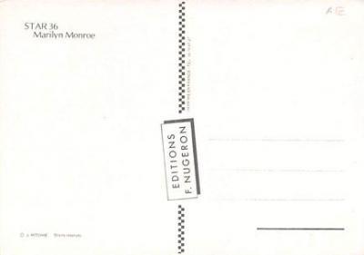 act500755 - Marilyn Monroe Movie Poster Postcard  back