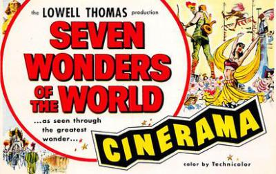 act500823 - Seven Wonders of the World, Cinerama Movie Poster Postcard