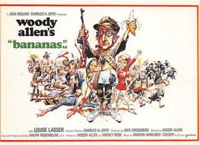 act500837 - Woody Allen's Bananas Movie Poster Postcard
