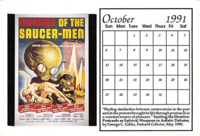 act500853 - Invasion of the Saucer-Men Movie Poster Postcard
