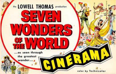 act500855 - Seven Wonders of the World, Cinerama Movie Poster Postcard