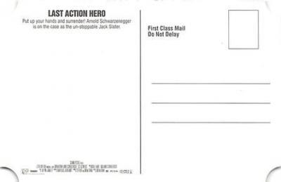 act500857 - Arnold Schwarzenegger Movie Poster Postcard  back