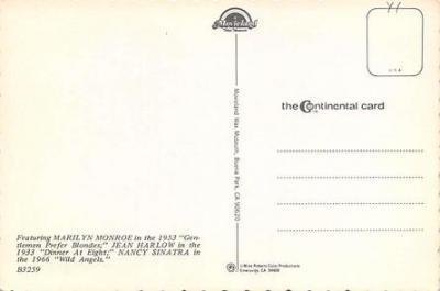 act500905 - Marilyn Monroe Movie Poster Postcard  back