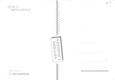 act510121 - Marilyn Monroe Movie Poster Postcard  back