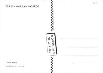 act510123 - Marilyn Monroe Movie Poster Postcard  back