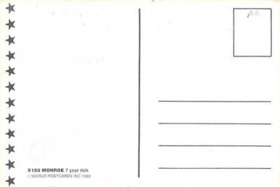 act510135 - Marilyn Monroe Movie Poster Postcard  back