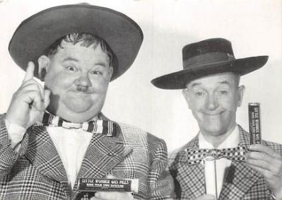 act520003 - Laurel and Hardy Movie Poster Postcard