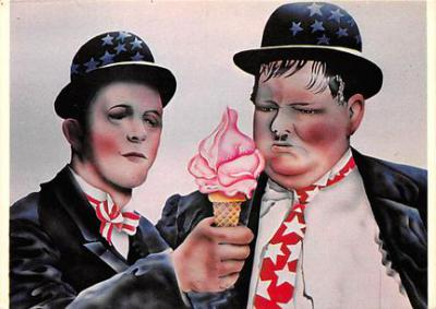 act520009 - Laurel and Hardy Movie Poster Postcard