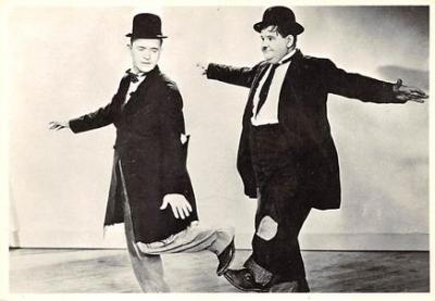 act520043 - Laurel and Hardy Movie Poster Postcard
