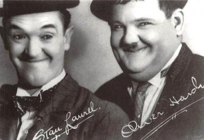 act520071 - Laurel and Hardy Movie Poster Postcard