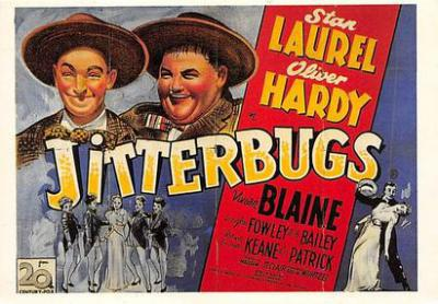 act520087 - Laurel and Hardy Movie Poster Postcard
