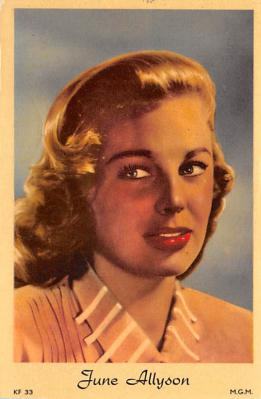 act_001021 - June Allyson Actor / Actress Misc. Movie Star Hollywood Postcard