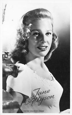 act_001035 - June Allyson Postcard Actress, Movie Star Post Card