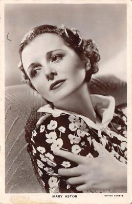 act_001038 - Mary Astor Actor, Actress, Movie Star, Postcard Post Card