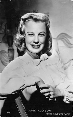 act_001040 - June Allyson Post Card Actress, Movie Star, Postcard