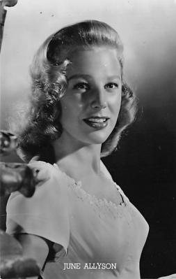 act_001044 - June Allyson Post Card Actress, Movie Star, Postcard