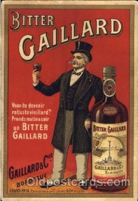 adv000014 - Advertising Bitter Gaillard Postcard Post Card